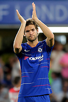 Marcos Alonso applauds the Chelsea fans after the match during Chelsea vs Lyon, International Champions Cup Football at Stamford Bridge on 7th August 2018