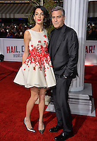 Actor George Clooney &amp; wife Amal Clooney at the world premiere of his movie &quot;Hail Caesar!&quot; at the Regency Village Theatre, Westwood.<br /> February 1, 2016  Los Angeles, CA<br /> Picture: Paul Smith / Featureflash