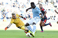 Felipe Caicedo of SS Lazio passes Ionut Radu of Genoa and scores the goal of 3-0 for his side<br /> Roma 29-9-2019 Stadio Olimpico <br /> Football Serie A 2019/2020 <br /> SS Lazio - Genoa CFC <br /> Foto Andrea Staccioli / Insidefoto