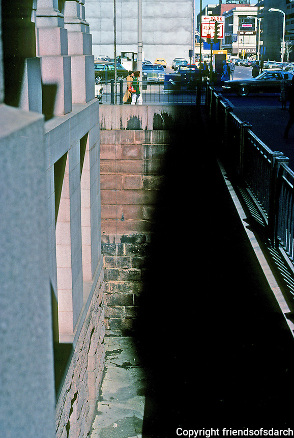 St. Louis: Old Post Office--moat. Photo '77.
