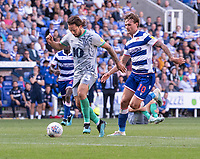Blackburn Rovers' Bradley Dack (left) under pressure from Reading's John Swift (right) <br /> <br /> Photographer David Horton/CameraSport<br /> <br /> The EFL Sky Bet Championship - Reading v Blackburn Rovers - Saturday 21st September 2019 - Madejski Stadium - Reading<br /> <br /> World Copyright © 2019 CameraSport. All rights reserved. 43 Linden Ave. Countesthorpe. Leicester. England. LE8 5PG - Tel: +44 (0) 116 277 4147 - admin@camerasport.com - www.camerasport.com