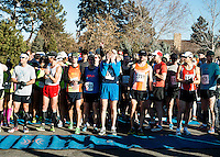 Frosty's Frozen Five &amp; Ten Mile Run kicks off the Winter Distance Series of races on Saturday, January 19, 2013, at the Hudson Gardens in Littleton, Colorado. The race ran along the Platte River.<br /> <br /> Photo by Matt Nager