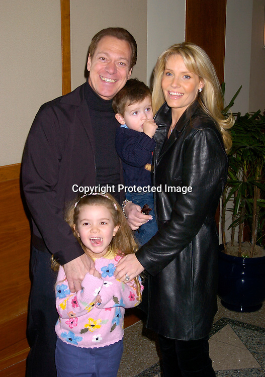 Joe Piscopo and wife Kimberly and daughter Alexandra and son Michael ..at the Cooley's Anemia Foundation's  1st Annual Winter Wonderland Carnival on Februay 8, 2004 at Pier Sixty at the Chelsea ..Piers. Photo by Robin Platzer, Twin Images