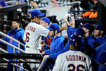 Daisuke Matsuzaka (Mets),<br /> SEPTEMBER 14, 2013 - MLB :<br /> Daisuke Matsuzaka of the New York Mets high-fives his teammates in the dugout after the seventh inning during the second game of a Major League Baseball doubleheader against the Miami Marlins at Citi Field in Flushing, New York, United States. (Photo by AFLO)