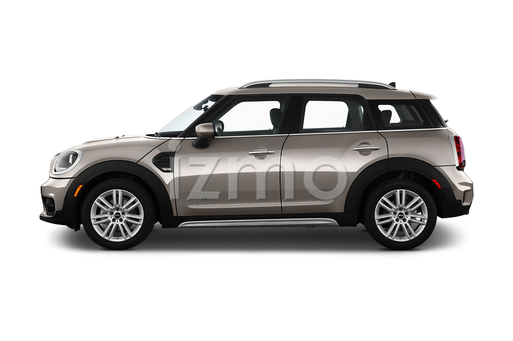 Car Driver side profile view of a 2020 MINI Countryman Cooper-Signature 5 Door Hatchback Side View