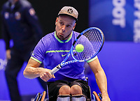 Rotterdam, Netherlands, December 12, 2017, Topsportcentrum, Ned. Loterij NK Tennis, Wheelchair, Berry Korst (NED)<br /> Photo: Tennisimages/Henk Koster