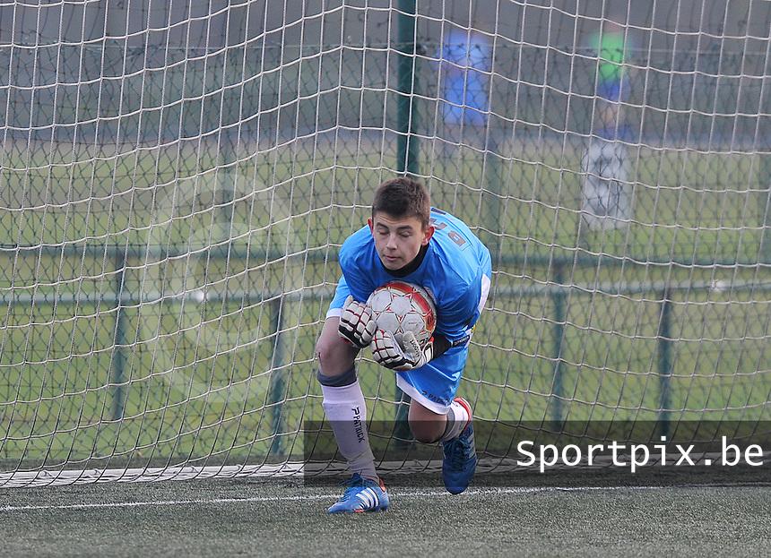 Zulte-Waregem U15 : Fabio Vandenbossche.foto David Catry / Loft6.be