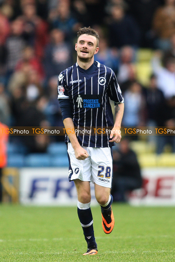 Scott Malone of Millwall celebrates his goal - Millwall vs Leeds United - Sky Bet Championship Football at the New Den, South Bermondsey, London - 28/09/13 - MANDATORY CREDIT: George Phillipou/TGSPHOTO - Self billing applies where appropriate - 0845 094 6026 - contact@tgsphoto.co.uk - NO UNPAID USE