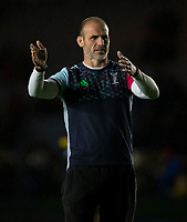 Harlequins' Head Coach Paul Gustard<br /> <br /> Photographer Bob Bradford/CameraSport<br /> <br /> Gallagher Premiership - Harlequins v Saracens - Saturday 6th October 2018 - Twickenham Stoop - London<br /> <br /> World Copyright &copy; 2018 CameraSport. All rights reserved. 43 Linden Ave. Countesthorpe. Leicester. England. LE8 5PG - Tel: +44 (0) 116 277 4147 - admin@camerasport.com - www.camerasport.com
