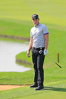 Danny Willett (ENG) at the 9th green during Sunday's Final Round of the 2014 BMW Masters held at Lake Malaren, Shanghai, China. 2nd November 2014.<br /> Picture: Eoin Clarke www.golffile.ie