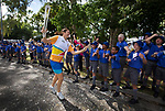 Batonbearer Susan Fuhrmann carrying the Baton as the Queen's Baton Relay visited Townsville. In the host state of Queensland the Queen's Baton will visit 83 communities from Saturday 3 March to Wednesday 4 April 2018. As the Queen's Baton Relay travels the length and breadth of Australia, it will not just pass through, but spend quality time in each community it visits, calling into hundreds of local schools and community celebrations in every state and territory. The Gold Coast 2018 Commonwealth Games (GC2018) Queen's Baton Relay is the longest and most accessible in history, travelling through the Commonwealth for 388 days and 230,000 kilometres. After spending 100 days being carried by approximately 3,800 batonbearers in Australia, the Queen's Baton journey will finish at the GC2018 Opening Ceremony on the Gold Coast on 4 April 2018.
