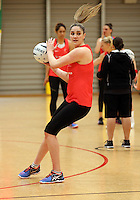 24.08.2016 Silver Ferns Te Paea Selby-Rickit in action during the Silver Ferns Training in Auckland. Mandatory Photo Credit ©Michael Bradley.