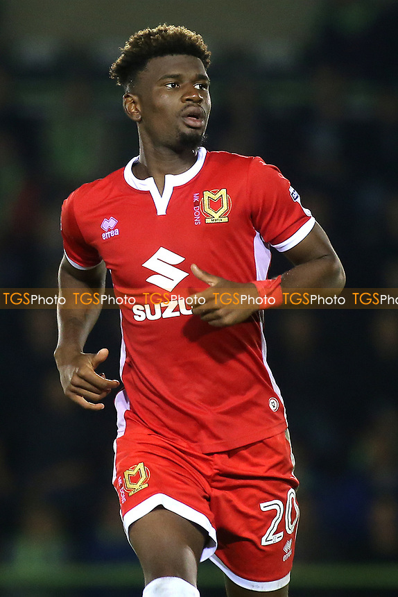 Aaron Tshibola of MK Dons during Forest Green Rovers vs MK Dons, Carabao Cup Football at The New Lawn on 8th August 2017