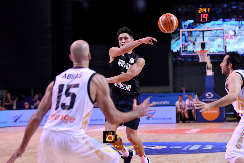 New Zealand Tall Blacks&rsquo; Reuben Te Rangi in action during the FIBA World Cup Basketball Qualifier - NZ Tall Blacks v Jordan at Horncastle Arena, Christchurch, New Zealand on Thursday 29 November  2018. <br /> Photo by Masanori Udagawa. <br /> www.photowellington.photoshelter.com