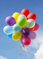 Nederland  Zaandam  2017.  Tros ballonnen.    Foto Berlinda van Dam / Hollandse Hoogte
