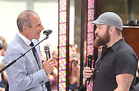 NEW YORK CITY, NY- July 13, 2012: Matt Lauer Interviews Zac Brown on NBC's Today Show Toyota Concert Series in New York City. © RW/MediaPunch Inc. /*NORTEPHOTO*<br />