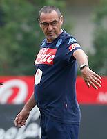 Maurizio Sarri <br /> ritiro precampionato Napoli Calcio a  Dima Maurizio Sarri ro 13<br /> Luglio 2015<br /> <br /> Preseason summer training of Italy soccer team  SSC Napoli  in Dimaro Italy July 13, 2015