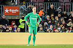 Goalkeeper Marc-Andre Ter Stegen of FC Barcelona during the La Liga 2017-18 match between FC Barcelona and Deportivo La Coruna at Camp Nou Stadium on 17 December 2017 in Barcelona, Spain. Photo by Vicens Gimenez / Power Sport Images