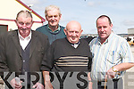 SHOW: At the Kerry Shorthorn Breeders 83rd Annual Show and Sale of Bulls at Castleisland Mart on Tuesday were, l-r: George Nagle (Castlemaine), Jackie Walsh (Listowel), Tom Foley (Killorglin) and Donal Cronin (Killarney)..