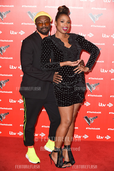"LONDON, UK. January 03, 2019: Will.i.am & Jennifer Hudson at the launch photocall for the 2019 series of ""The Voice"" London.<br /> Picture: Steve Vas/Featureflash"