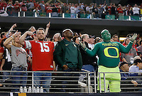 Fans during the fourth quarter of the College Football Playoff National Championship at AT&T Stadium in Arlington, TX on Monday, January 12, 2015. (Columbus Dispatch photo by Jonathan Quilter)