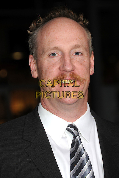 """MATT WALSH .""""Due Date"""" Los Angeles Premiere held at Grauman's Chinese Theatre, Hollywood, California, USA,.28th October 2010..portrait headshot black white shirt tie moustache mustache facial hair .CAP/ADM/BP.©Byron Purvis/AdMedia/Capital Pictures."""