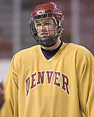 J.D. Corbin - Reigning national champions (2004 and 2005) University of Denver Pioneers practice on Friday morning, December 30, 2005 before hosting the Denver Cup at Magness Arena in Denver, CO.