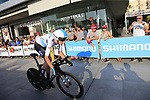 Tao Geoghegan Hart (GBR) Team Sky during Stage 1 of the La Vuelta 2018, an individual time trial of 8km running around Malaga city centre, Spain. 25th August 2018.<br /> Picture: Ann Clarke | Cyclefile<br /> <br /> <br /> All photos usage must carry mandatory copyright credit (© Cyclefile | Ann Clarke)