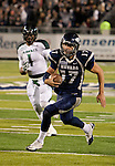 November 12, 2011:   Nevada Wolf Pack quarterback Cody Fajardo scrambles for a 25 yard touchdown in the second half against the Hawaii Warriors during a WAC league game played at Mackay Stadium in Reno, Nevada.