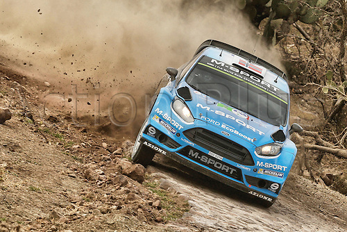 03.03.2016. Leon, Mexico. WRC rally of Mexico. Shakedown and SS1 and SS2.  Mads Ostberg (NOR) and Ola Floene (NOR)- Ford Fiesta WRC
