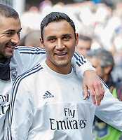 Melbourne, 17 July 2015 - Keylor Navas of Real Madrid leaves the ground after a training session at the Melbourne Cricket Ground ahead of their International Champions Cup match against AS Roma tomorrow in Melbourne, Australia. Photo Sydney Low/AsteriskImages.com