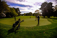 The 13th green. 2017 Asia-Pacific Amateur Championship Media and Partner Golf Day at Royal Wellington Golf Club in Wellington, New Zealand on Monday, 16 October 2017. Photo: Dave Lintott / lintottphoto.co.nz
