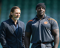Wycombe Wanderers Manager Gareth Ainsworth left and Adebayo Akinfenwa of Wycombe Wanderers during Yeovil Town vs Wycombe Wanderers, Sky Bet EFL League 2 Football at Huish Park on 14th April 2018