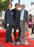Norm Eisen, Jeff Goldblum &amp; Ed Begley Jr. at the Hollywood Walk of Fame Star Ceremony honoring actor Jeff Goldblum, Los Angeles, USA 14 June 2018<br /> Picture: Paul Smith/Featureflash/SilverHub 0208 004 5359 sales@silverhubmedia.com