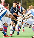 AMSTELVEEN - Marlon Landbrug (Pinoke)  Hoofdklasse competitie heren. Pinoke-SCHC (0-1) . COPYRIGHT  KOEN SUYK