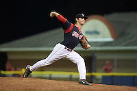 Batavia Muckdogs pitcher Kyle Keller (35) delivers a pitch during a game against the Williamsport Crosscutters on August 29, 2015 at Dwyer Stadium in Batavia, New York.  Williamsport defeated Batavia 7-3.  (Mike Janes/Four Seam Images)