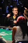 Michiel Brummelhuis os at first disappointed and that turns to jubilation when he hits his ace on the river.