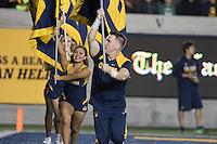 BERKELEY, CA - October 21, 2016: Cal cheerleaders celebrate a goal. Cal played Oregon at Cal Memorial Stadium.