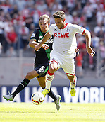 01.08.2015. RheinEnergieStadion, Cologne, Germany.  Colognes MilJojic against Marc Muniesa during the Colonia Cup 2015 between  FC Cologne and Stoke City FC