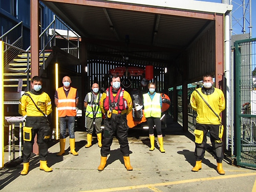 The Union Hall RNLI crew at their station in West Cork