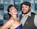Julia Murney and Daniel Everidge attending the Off-Broadway Opening Night Performance After Party for 'Falling' at Knickerbocker Bar & Grill on October 15, 2012 in New York City.