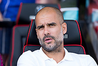 Manchester City Manager Josep Guardiola ahead of the Premier League match between Bournemouth and Manchester City at the Goldsands Stadium, Bournemouth, England on 26 August 2017. Photo by Andy Rowland.