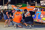 Sep 12, 2010; 12:20:24 AM; Rossburg, OH., USA; The 40th annual running of the World 100 Dirt Late Models racing for the Globe trophy at the Eldora Speedway.  Mandatory Credit: (thesportswire.net)