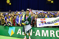 09-02-13, Tennis, Rotterdam, qualification ABNAMROWTT, Fabian van der Lans with his supporters