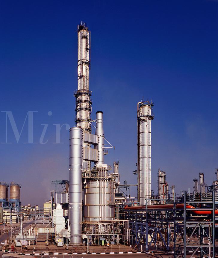 Petrochemical plant, ethylene, India. Mumbai/Bombay
