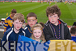 SCOREBOARD: Keeping a close eye on the scoreboard were Billy Brassil, Michael Costello, Laura Brassil and Con ODonnell pictured at the All Ireland Colleges Final in Croke Park on Sunday..