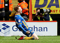 Jon Nolan celebrates scoring Shrewsbury Town's opening goal during Charlton Athletic vs Shrewsbury Town, Sky Bet EFL League 1 Play-Off Football at The Valley on 10th May 2018