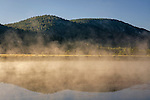 Mist rising of unnamed lake in the Hope Valley, Alpine County, California