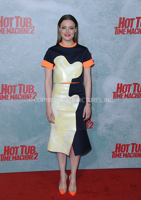 WWW.ACEPIXS.COM<br /> <br /> February 18 2015, LA<br /> <br /> Gillian Jacobs at the premiere of Paramount Pictures' 'Hot Tub Time Machine 2' at the Regency Village Theatre on February 18, 2015 in Westwood, California.<br /> <br /> <br /> By Line: Peter West/ACE Pictures<br /> <br /> <br /> ACE Pictures, Inc.<br /> tel: 646 769 0430<br /> Email: info@acepixs.com<br /> www.acepixs.com