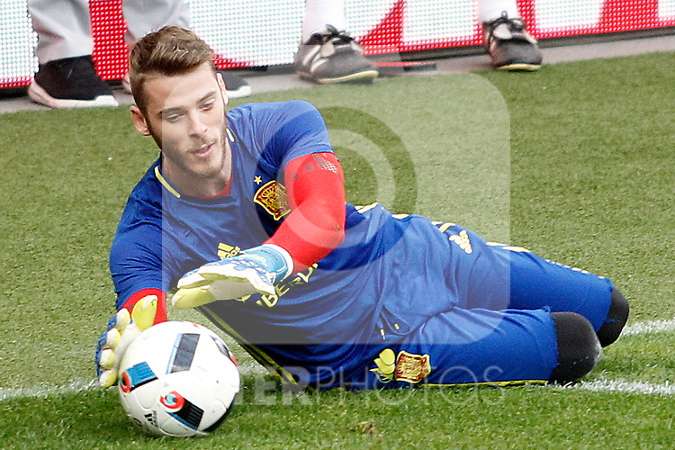 Spain's David De Gea during training session previous friendly match. May 31,2016.(ALTERPHOTOS/Acero)